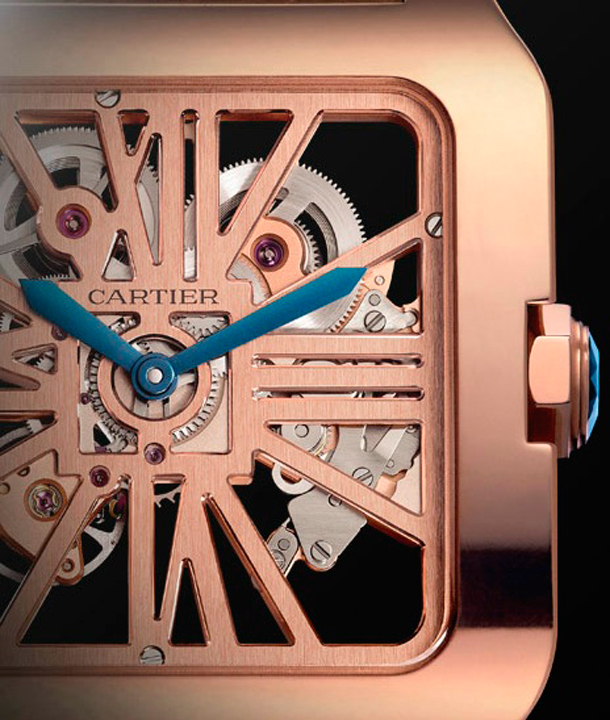 cartier-santos-dumont-red-gold-close
