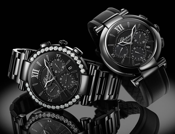 Chopard-IMPERIALE-Chrono-All-Black-ladies-watches