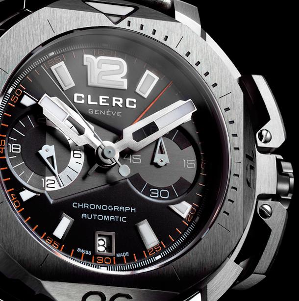Clerc-Hydroscaph-Chronograph-steel-closeup