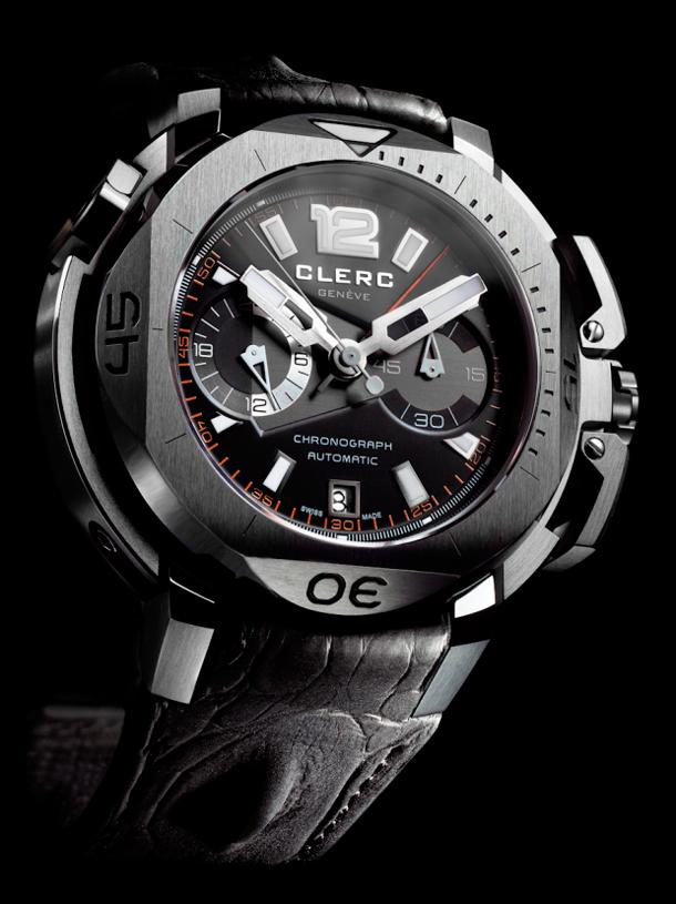 Clerc-Hydroscaph-Chronograph-steel-watch