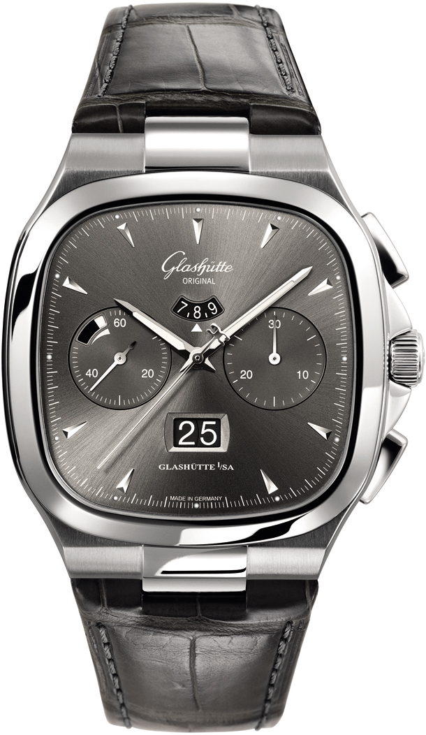Seventies Chronograph Panorama Date/Glashutte 1-37-02-01-02-30