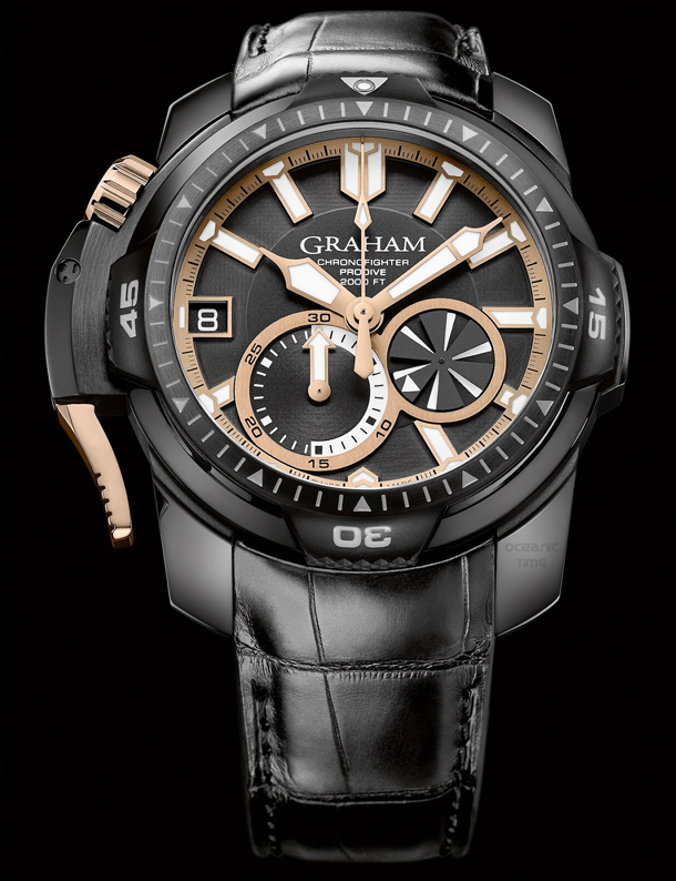 GRAHAM Chronofighter PRODIVE Black And GOLD-1