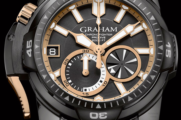 GRAHAM Chronofighter PRODIVE Black and GOLD
