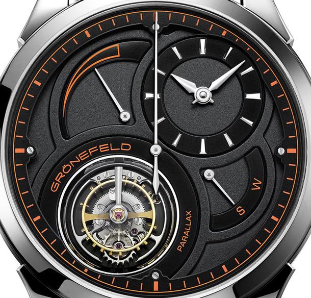 Gronefeld-Parallax-Tourbillon-Platinum-Unique-Piece-black-and-orange-dia