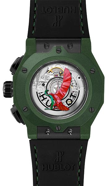 classic-fusion-aerofusion-chronograph-orlinski-mexico-green-ceramic-dos-aigle-serpent