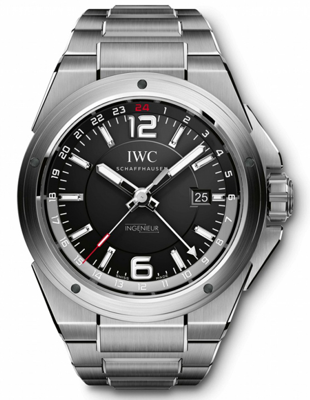 IWC-Ingenieur-Dual-Time-steel-black-dial