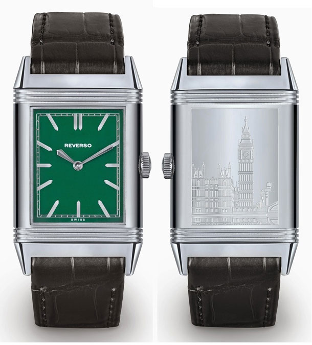 Jaeger-LeCoultre-Grande-Reverso-Ultra-Thin-1931-London-Green-Dial-Edition-front-back