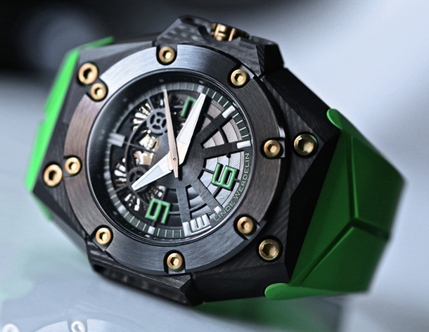 Linde Werdelin Oktopus Double Date Carbon Green-1