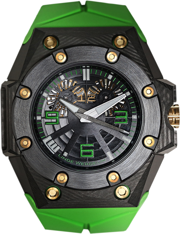 Linde Werdelin Oktopus Double Date Carbon Green