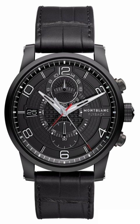 montblanc-timewalker-twinfly-automatic-chronograph-watch-black-dlc-front