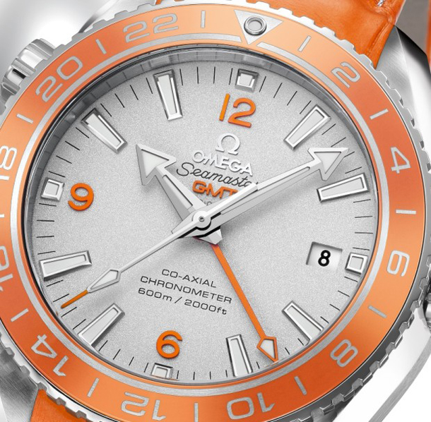Omega-Seamaster-Planet-Ocean-Orange-Ceramic-Watch-Dial-Closeup