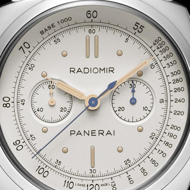 Panerai-PAM-518-Radiomir-1940-Chronograph-Platino-Dial-Closeup