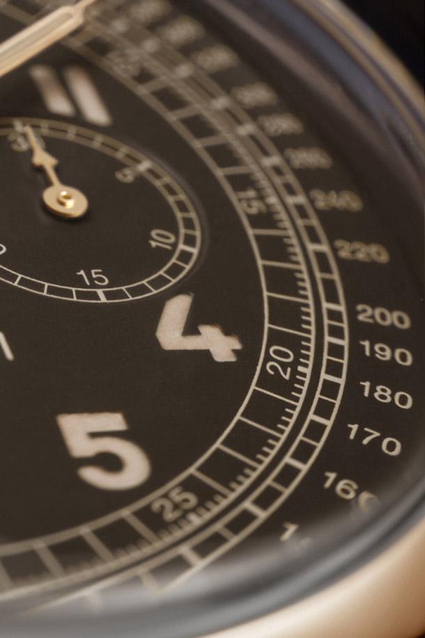 Panerai-Radiomir-1940-Chronograph-Oro-Rosso-PAM519-dial-closeu