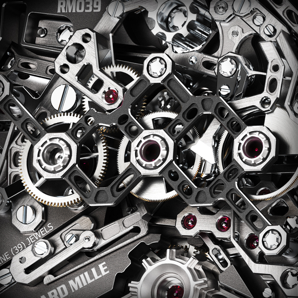CLOSE UP flyback chronograph components