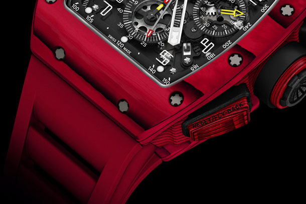 Richard-Mille-RM-011-Red-TPT-Quartz-automatic-flyback-chronograph-Detail-case