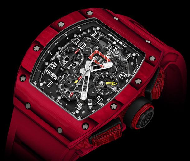 Richard-Mille-RM-011-Red-TPT-Quartz-automatic-flyback-chronograph-case