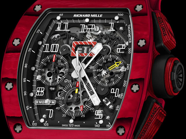Richard-Mille-RM-011-Red-TPT-Quartz-automatic-flyback-chronograph-dial-close-up