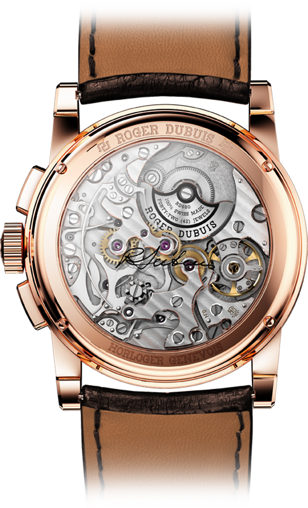 Hommage-Chronograph-in-pink-gold---back-view