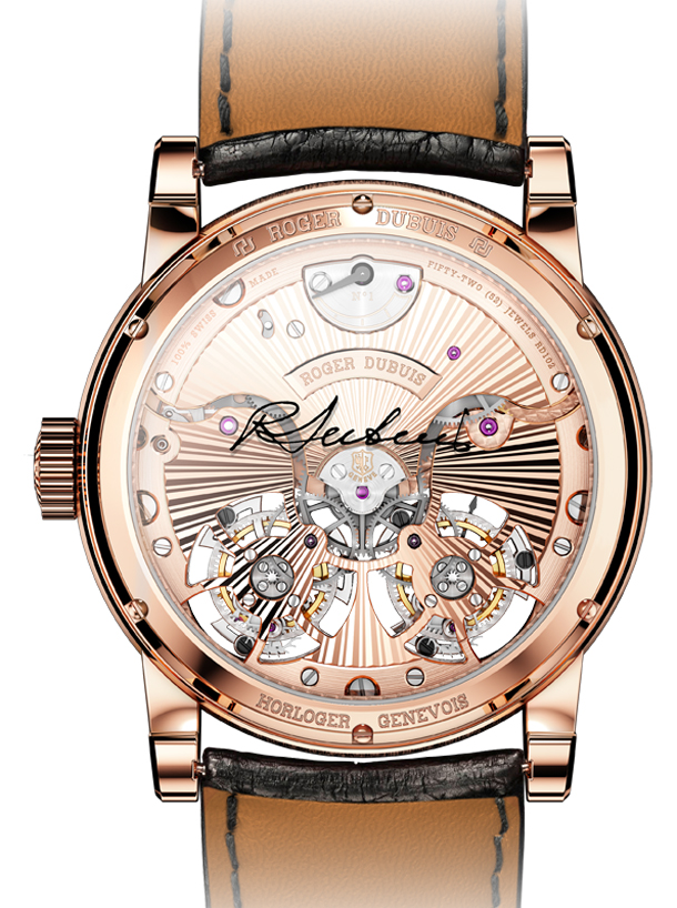 Hommage-Double-Flying-Tourbillon-in-pink-gold---back-view.