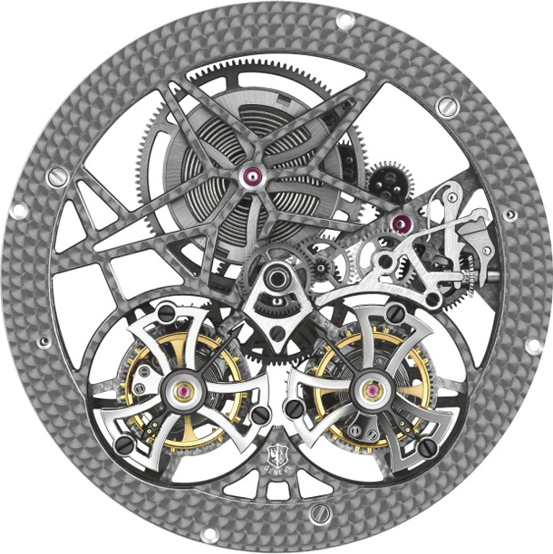 Roger Dubuis/20.01.15/Spider Double Flying Tourbillon/RD01SQ-Movement-recto