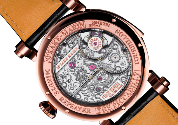 RenaissanceTourbillon Minute Repeater by Speake-Marin case back