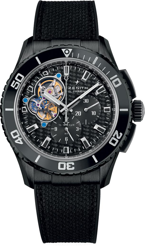 Zenith-EL-Primero-Stratos-Spindrift-Racing-DLC-carbon-fiber-dial-watch-Perpetuelle